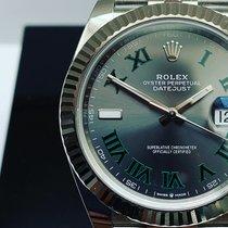 Rolex Datejust Acier 41mm Gris Sans chiffres Belgique, 6540