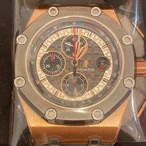 Audemars Piguet Royal Oak Offshore Chronograph Pозовое золото 44mm Cерый Без цифр