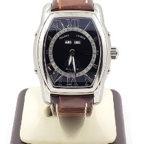 Maurice Lacroix Masterpiece Phases de Lune pre-owned 38mm Black Date Month Leather