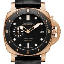 Panerai Rose gold Automatic Black 42mm new Luminor Submersible