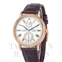 A. Lange & Söhne Langematik Rose gold 41mm Silver Roman numerals United States of America, New York, Hartsdale