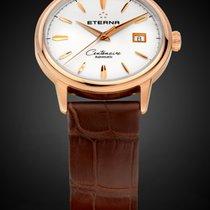 Eterna Centenaire Automatik Herrenuhr Armbanduhr Massivgold 18K.