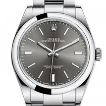Rolex Oyster Perpetual 39 Stål 39mm Inga siffror
