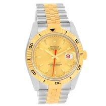 Rolex Datejust Turnograph Steel Yellow Gold Automatic Mens...
