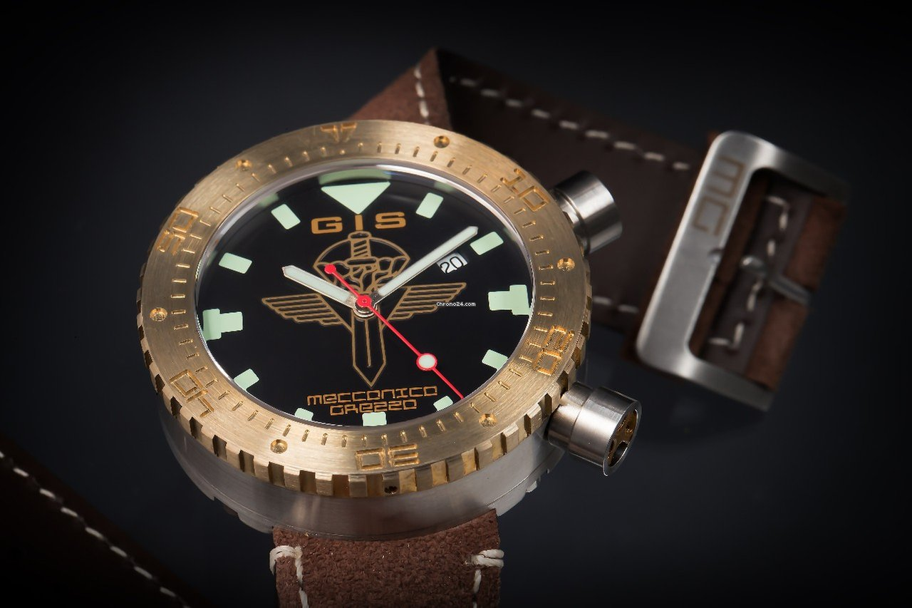 Meccanica Grezza MG01-GIS Bronze Lünette drehbar for $4,943 for sale ...