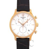 Tissot Tradition Ruzicasto zlato 42mm Bjel
