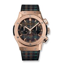 Hublot Rose gold Automatic Green 45mm new Classic Fusion Chronograph