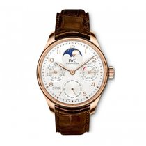 IWC Portuguese Perpetual Calendar Or rose 44.2mm Argent Arabes