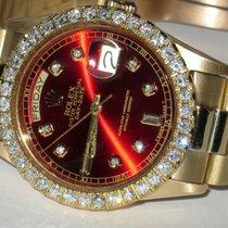 Rolex Day-Date Gelbgold 36mm Rot Keine Ziffern