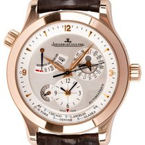 Jaeger-LeCoultre Master Geographic Ouro rosa 40mm Prata Árabes