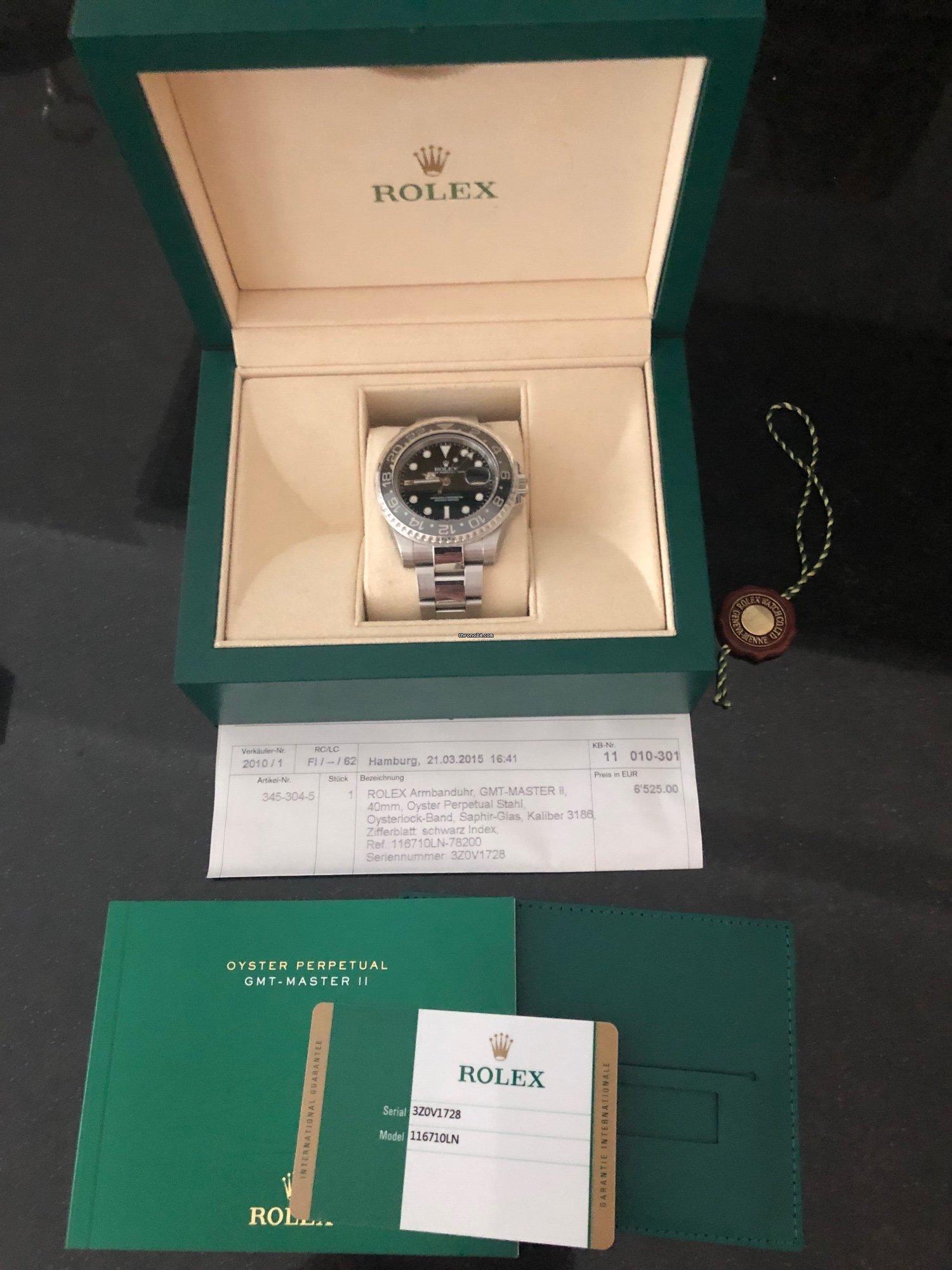 Rolex GMT-Master II Ländercode 100 aus 2015 for Rp