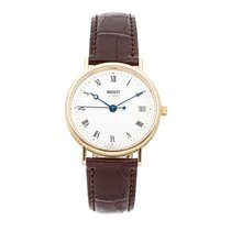 Breguet Yellow gold Automatic Silver Roman numerals 34.5mm pre-owned Classique