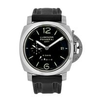 Panerai Luminor 1950 8 Days GMT Сталь 44mm Чёрный Aрабские