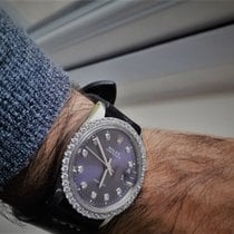 Rolex Oyster Precision Staal 34mm Paars Geen cijfers