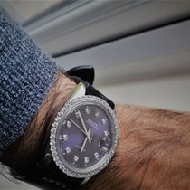 Rolex Oyster Precision Сталь 34mm Фиолетовый Без цифр