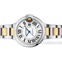 Cartier Ballon Bleu 33mm Сталь 36mm Cеребро Римские