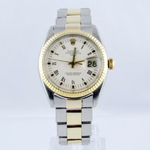 Rolex Oyster Perpetual Date Gold/Steel 34mm White No numerals
