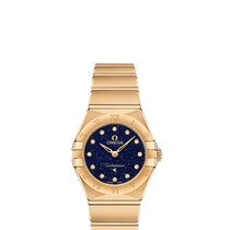 Omega Constellation Quartz Oro amarillo 28mm Azul