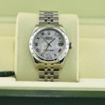 Rolex pre-owned Automatic 31mm Mother of pearl Sapphire Glass 10 ATM