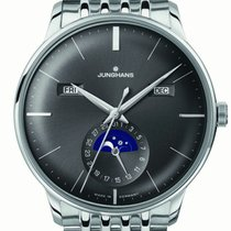 Junghans Meister Calendar Steel 45mm Grey United States of America, New Jersey, Cherry Hill