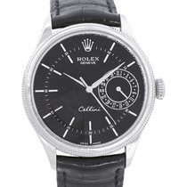 Rolex Cellini Date pre-owned 39mm Black Date Buckle