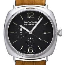 Panerai Radiomir 10 Days GMT Steel 47mm Black Arabic numerals