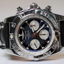 Breitling ny Automatisk Liten sekundviser Selvlysende tall Selvlysende visere Kronometer Dreibar bezel Skrukrone Hurtigstilling Originaltilstand/originaldeler 44mm Stål Safirglass