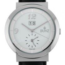Bunz Ergo Stahl Automatik Armband Leder 41mm Ungetragen mit...