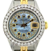 Rolex Datejust Ladies' 26mm Sky Blue Mother Of Pearl Dial...