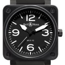 Bell & Ross Carbon Automatic Black Arabic numerals 46mm new BR 01-92