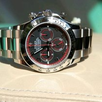 Rolex Daytona white gold black dial full set perfect condition