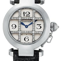 Cartier Pasha (Submodel) brukt 32mm Hvitt gull