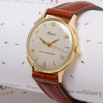 Minerva Yellow gold 33mm Manual winding pre-owned