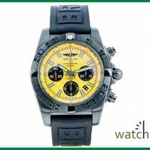 Breitling Chronomat 44 Blacksteel Steel 44mm Yellow No numerals
