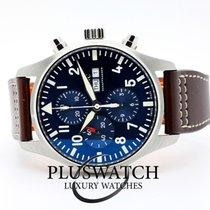 IWC Pilot Chronograph usato 43mm Blu Cronografo Data Indicatore dei giorni settimanali Pelle