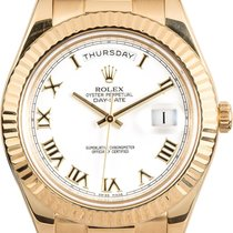 Rolex Day-Date II Yellow gold 41mm White Roman numerals United States of America, New York, New York
