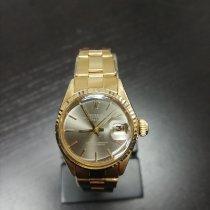 Rolex Oyster Perpetual Lady Date Aur galben 26mm Alb Fara cifre