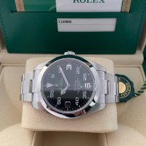 Rolex Air King Stål 40mm Svart Arabiska