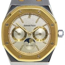 Audemars Piguet Royal Oak Day-Date pre-owned 36mm Grey Moon phase Date Gold/Steel