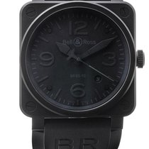Bell & Ross | A Black Coated Stainless Steel Square Form...