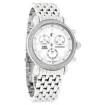 Michele CSX 36 Diamond Ladies Mop Chronograph Swiss Watch...