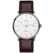 Junghans Meister Chronometer 027/4130.00 JUNGHANS MEISTER CHRONOMETER acciaio marrone new