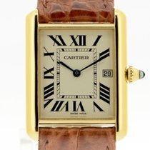 Cartier Tank Louis Cartier Gelbgold 33.7mm Weiß Deutschland, Stuttgart