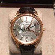 Zenith Rose gold Manual winding Silver (solid) 40mm pre-owned Elite Dual Time