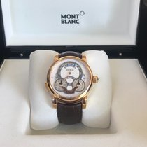 Montblanc Red gold Automatic Silver Arabic numerals 43mm pre-owned Nicolas Rieussec