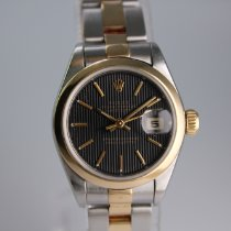 Rolex Oyster Perpetual Lady Date Gold/Stahl 26mm Schwarz