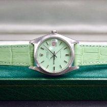 Rolex Oyster Precision Сталь 34mm Зелёный Без цифр