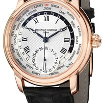 Frederique Constant Manufacture Worldtimer Silver United States of America, New York, Brooklyn