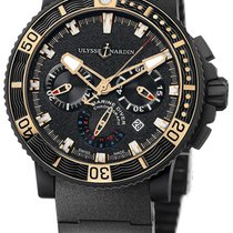 Ulysse Nardin Diver Black Sea new Automatic Chronograph Watch with original box