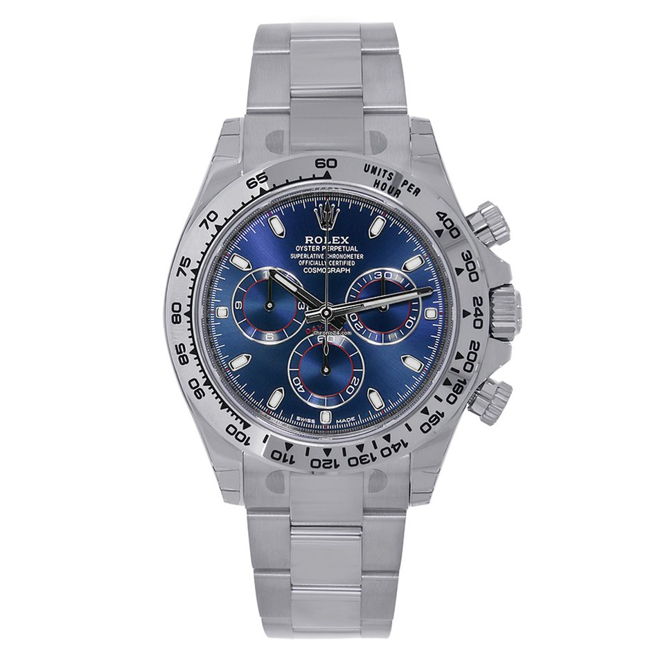 Rolex Daytona 18k White Gold Blue Dial Watch 116509 For 32 999 For
